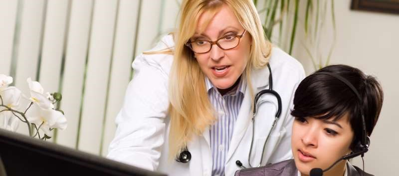 The patient called the doctor's office on four occasions, each time her symptoms were relayed by the receptionist