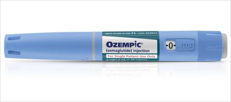 Treatment with Ozempic resulted in reductions in body weight