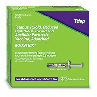 BOOSTRIX (Tetanus and reduced diphtheria toxoid, acellular pertussis vaccine) by GlaxoSmithKline