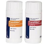 PRANDIMET (repaglinide/metformin) 1mg/500mg, 2mg/500mg tablets by Novo Nordisk