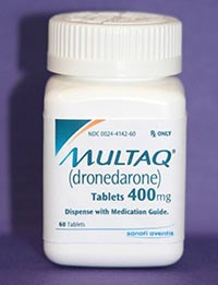 MULTAQ (Dronedarone) 400mg tablets from sanofi-aventis