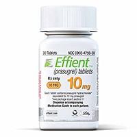 EFFIENT (prasugrel) 5mg, 10mg tablets by Daiichi Sankyo and Eli Lilly
