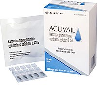 ACUVAIL (ketorolac tromethamine) 0.45% ophthalmic solution by Allergan