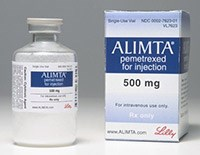 ALIMTA (pemetrexed) 100mg/vial, 500mg/vial pwd for IV inj by Lilly