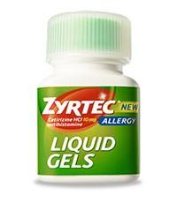ZYRTEC LIQUID GELS (cetirizine HCl) 10mg liquid gels by McNeil Consumer &Specialty Pharmaceuticals