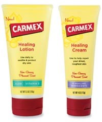 Carmex Healing Lotion and Carmex Healing Cream available