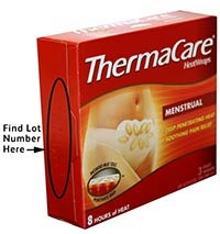 ThermaCare HeatWraps Menstrual product recalled