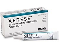 XERESE (acyclovir/hydrocortisone) 5%/1% cream by Meda