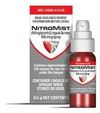 NITROMIST (nitroglycerin) 400mcg/actuation lingual spray by Akrimax