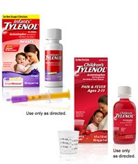 INFANTS' TYLENOL & CHILDREN'S TYLENOL (acetaminophen) 160mg/5mL oral suspension by McNeil Consumer