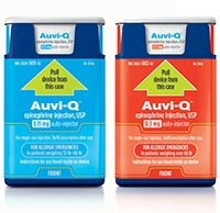 AUVI-Q (epinephrine) 0.15mg and 0.3mg auto-injector pack