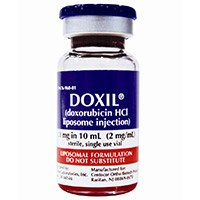 DOXIL (doxorubicin HCl liposome injection) 2mg/mL by Janssen Biotech