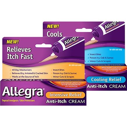 Allegra Intensive Relief and Cooling Relief Anti-Itch Creams by Chattem