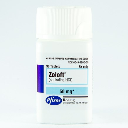 ZOLOFT (sertraline [as HCl]) 50mg scored tablets