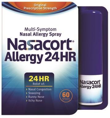 OTC Nasacort Allergy 24hr Nasal Spray Now Available
