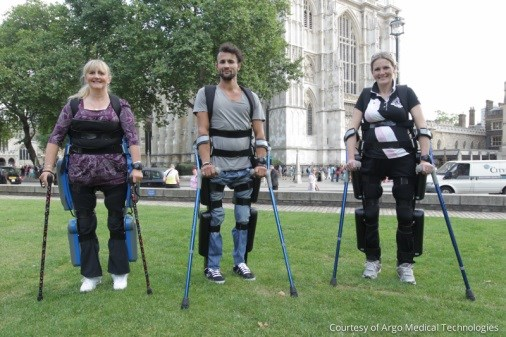 First Wearable, Motorized Exoskeleton for Paraplegics