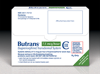 BUTRANS (buprenorphine) 7.5mcg/hr Transdermal System by Purdue