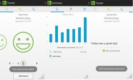 Mood Diary App Shares Patient Data With Clinicians