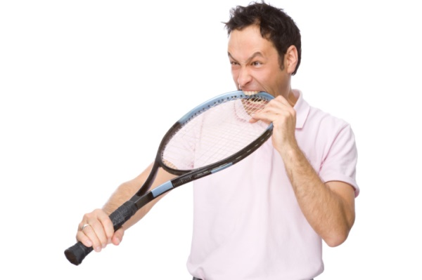 Struck By Tennis Racket (W21.12X)