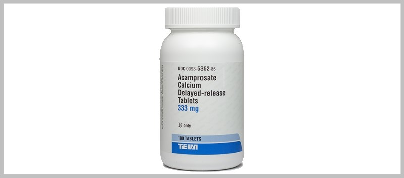 Acamprosate Calcium is available in 180-count bottles