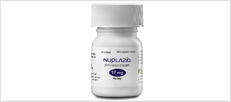 Nuplazid is an atypical antipsychotic indicated for the treatment of hallucinations and delusions in PD patients