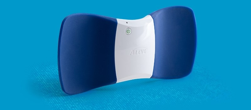 The device is placed on the lower back and can be worn throughout the day