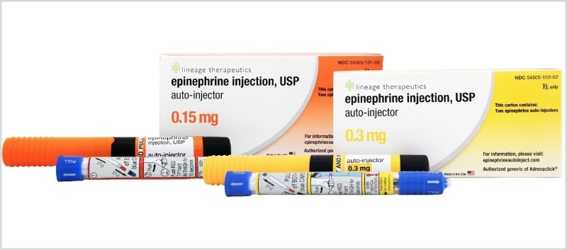 The Epinephrine Auto-Injector comes in a package with 2 injectors