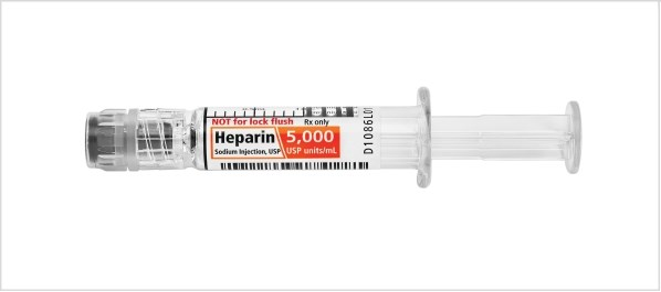 Heparin Sodium is supplied in the Company's Simplist ready-to-administer prefilled syringes