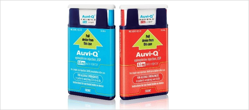 Auvi-Q is an FDA-approved drug to treat emergency allergic reactions (Type 1), including anaphylaxis