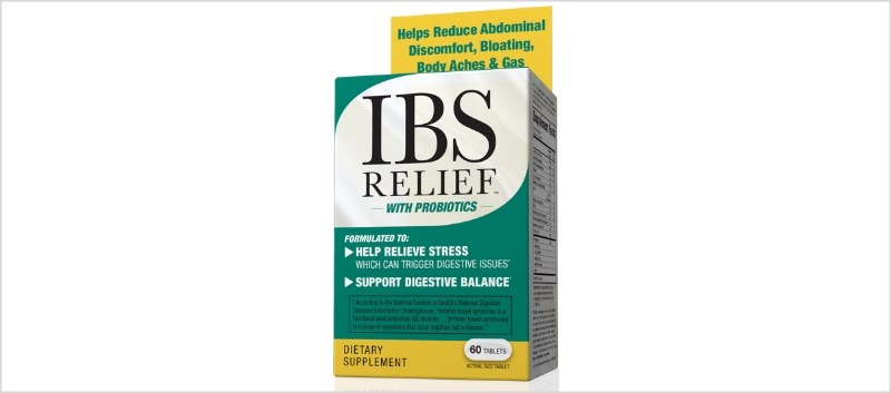 IBS Relief contains a blend of probiotics and provides Bacillus coagulans, a probiotic that promotes digestive health