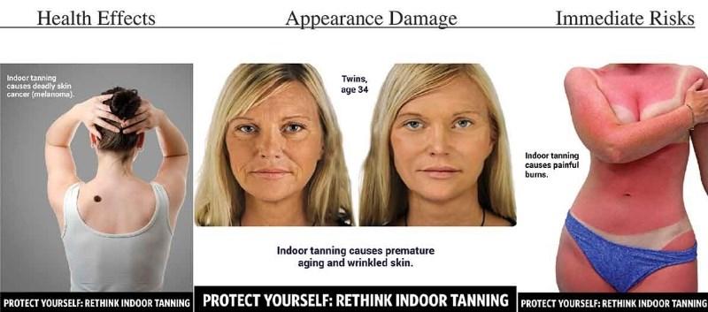 Visuals Work in Discouraging Indoor Tanning