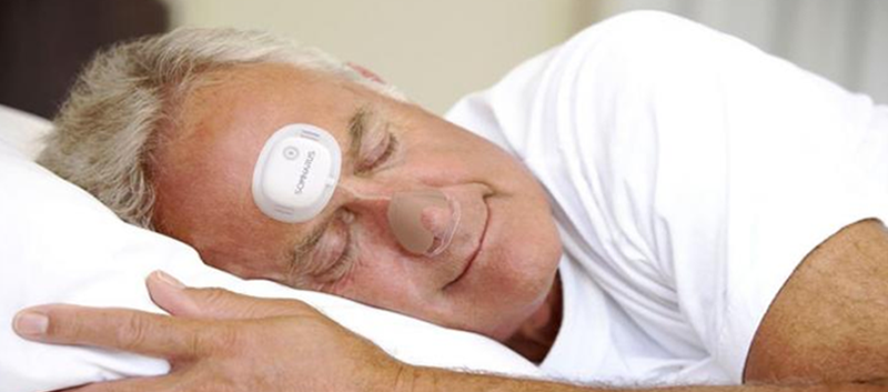 SomnaPatch, a disposable patch that is able to detect obstructive sleep apnea