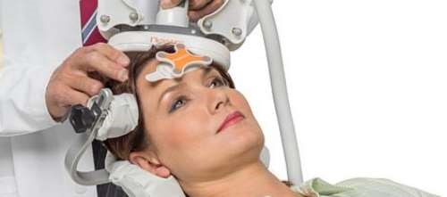 The NBT system uses a method of navigated transcranial magnetic stimulation