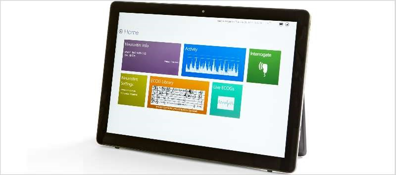 The RNS Tablet integrates the NeuroPace Programmer and Patient Data Management System into one interface