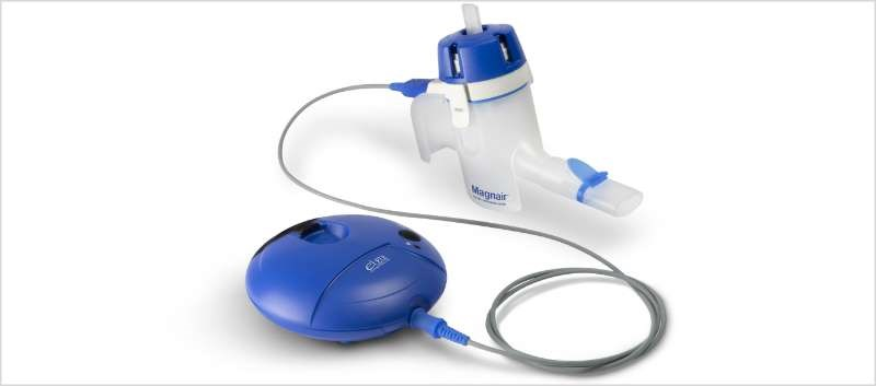 eFlow technology allows for a virtually silent, portable, closed system nebulizer that delivers the drug in 2 to 3 minutes