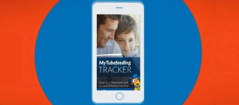 MyTubefeeding TRACKER App to help caregivers of tube fed children