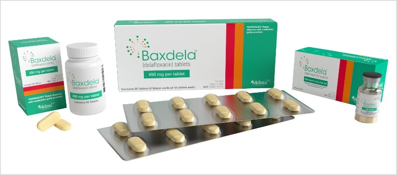 Baxdela is available in IV and tablet formulations