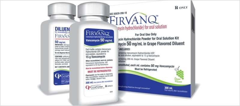 FDA-approved vancomycin oral liquid