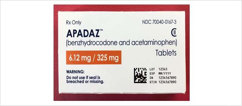 Apadaz includes a prodrug of hydrocodone