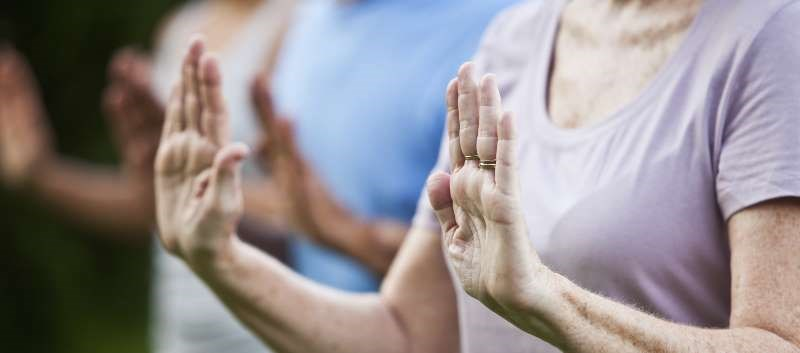 Improvement in fibromyalgia impact questionnaire scores was greater for combined tai chi groups