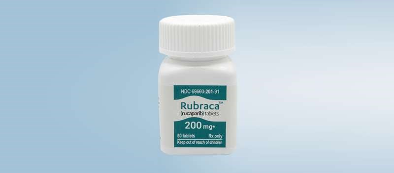 Rubraca is an oral, small molecule inhibitor of PARP1, PARP2 and PARP3