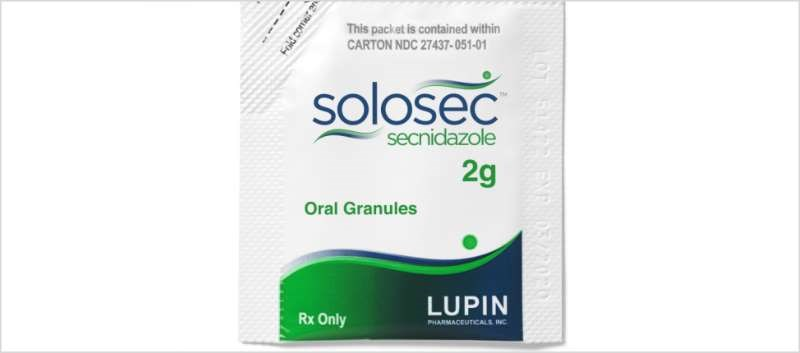 Solosec is a potent nitroimidazole antimicrobial that comes in single-dose, granule form