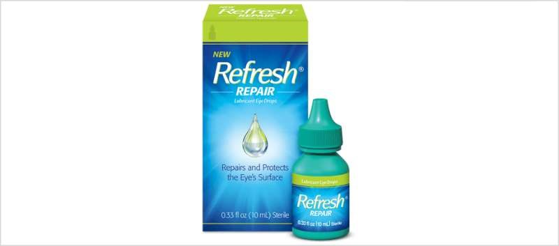 Refresh Repair Lubricant Eye Drops are available over-the-counter