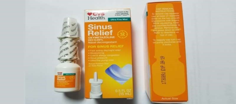 The recalled nasal decongestant has a Lot number of 173089J and an expiration date of 09/19.