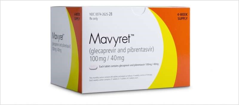 Currently, a 12-week course of Mavyret is indicated for treatment-naïve HCV patients with compensated cirrhosis