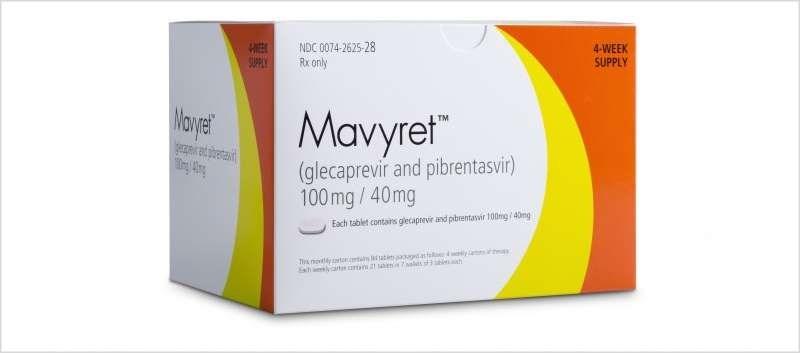 Mavyret consists of glecaprevir, a hepatitis C virus (HCV) NS3/4A protease inhibitor, and pibrentasvir, an HCV NS5A inhibitor