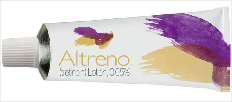 Altreno is available as a 0.05% lotion in 45g tubes