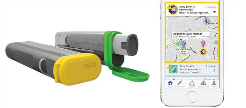 The Veta Smart Case can be used with EpiPen, EpiPen Jr, and Mylan's authorized generic versions of EpiPen auto-injectors