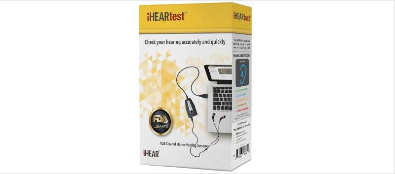 The iHEARtest is an air conduction over-the-counter hearing screener for home use