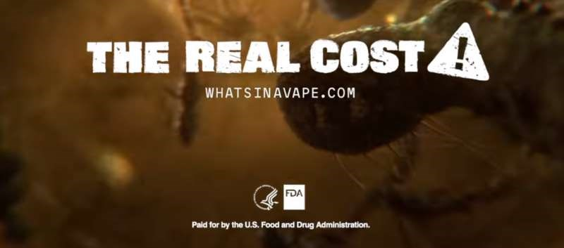 'The Real Cost' Youth E-Cigarette Prevention Campaign to target at-risk youth.